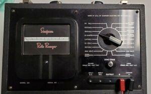 VINTAGE SIMPSON Electric ROTO RANGER Voltage Tester OHMS AC DC