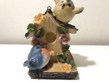 Ceramic Mini Bird Tree House Figurine Home Decorative Bird House