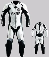 YAMAHA MENS BIKER SUIT MOTORCYCLE LEATHER SUIT MOTORBIKE LEATHER JACKET TROUSER