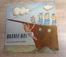 """French LP 10"""" Branle-bas chez les gaillards d'avant sexy nude Siné 60's  EXC"""