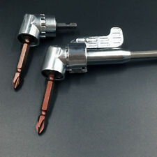 105°Angle 1/4 6mm Extension Hex Drill Bit Screwdriver Socket Holder Adaptor