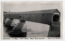 1929 HARTLAND NEW BRUNSWICK Original Photograph PHOTO Covered Bridge CANADA NB