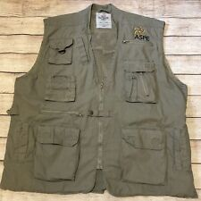Rothco Outback Safari Travel Vest Adventure Hunting Camping Men's Size Xl Green
