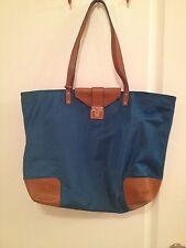$275 TORY BURCH Womens Green Nylon Weekender Handbag Purse Extra Large