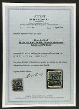 Deutsches Reich Mi.Nr. 335 A Wb  - gestempelt Stettin geprüft Attest