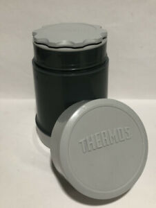 Vintage Gray Thermos 16 Oz Food Jar Drink Travel Container Made In Canada