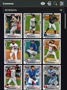 2021 Topps Bunt Bowman Base Lot of 69 Inserts *Digital Cards*