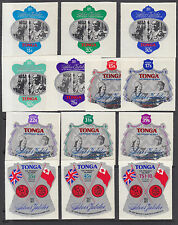 Tonga Sc 392/CO119 MNH. 1977 Silver Jubilee, complete set of 13, VF