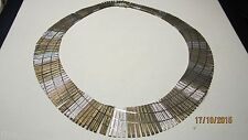 Sterling Silver & Necklace Multi Color Finish Large Necklace Hallmarked