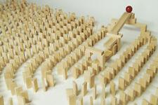 430 Dominosteine natur Bausteine Holz Bauklötze Holzklötze Holzbausteine Domino
