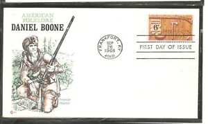 US SC # 1357 Daniel Boone FDC. Cachet Craft