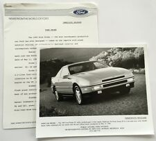 1989 Ford Probe Original Car Product News Guide Brochure like