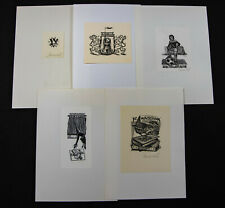 30)Nr.171- EXLIBRIS-Gerard Gaudaen,  Konvolut 5  Blätter
