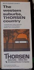 1979-80 Street Map for Western Suburbs South Du Page County Illinois