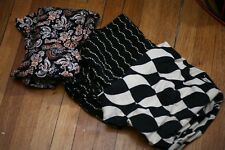 LuLaRoe Leggings Lot 3 Tall and Curvy Black White Goth Patterns Punk New