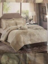 Madison Park Essentials 8 Piece CAL. KING Comforter Set Beige. No Pillow. New