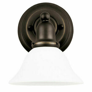 Sea Gull Lighting 49063BLE-782 Sussex 1 Light Bathroom Fixture Heirloom Bronze
