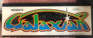 "Original Galaxian Arcade Marquee Plexiglass 23"" X 9 1/8"""