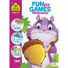 School Zone - Fun and Games Preschool Activity Workbook - 320 Pages, Ages 3 and