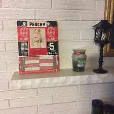 "Nickel Punch Board Pin Up Girl ""Peachy"" Unused Gambling Trade Stimulator"