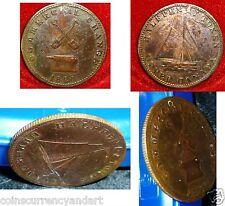Breton 727  ,UC-9A2  1820  Half Penny Token ,Upper Canada