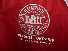 Denmark 2012 Euro Ukraine ADIDAS Shirt Size L Football Jersey Maglia Camiseta