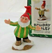 Fitz & Floyd Holiday Hamlet - Welcoming Elf - 1993