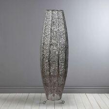 LARGE 85cm Tall Moroccan Floor Lamp Wall Standing Chrome Metal Home Lighting