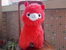 "New Huge Kawaii Red ALPACA Llama Cute Plush Alpacasso Arpakasso Toy Gift 18"""