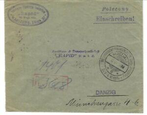 Poland cover cancel 1927 congress military pharmacy and medicine