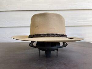 3X Vintage Antique Stetson Rugged Old West Cowboy Hat 7 1/8 Clint Eastwood 57cm