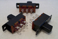 2K100 3 x Mini DPDT On-Off Slide Switch Ideal for Model Railway/Railroad Use 2nd