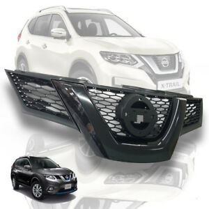GLOSS BLACK-MATTE BLACK FRONT GRILLE GRILL FOR NISSAN X-TRAIL XTRAIL 15 16 17 18