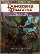Dungeons & Dragons Primal Power Wizards New