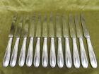 12 couteaux de table metal argente Louis XVI (dinner knives) orbrille