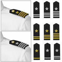 1 Pair Traditional Professional Uniform Epaulets Shoulder Boards w/Tinsel Star