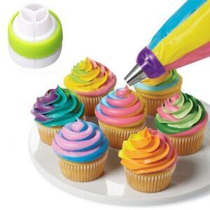 3 Hole Icing Piping Nozzles Tips Pastry Bag  Cupcake Sugarcraft Decorating Tool