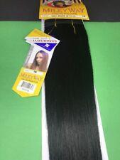"Milkyway 100% Human Hair Yaky Weave_20""_#1B"