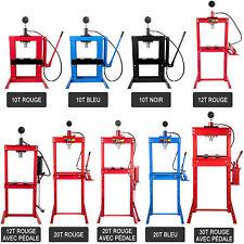 Presse d'Atelier Hydraulique 10/12/20/30T pour Auto Garage Réparation Manomètre