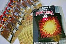 """Vintage Aunt Lydia'S Sunburst Latch Hook Pillow Kit 16"""" X 16"""" #4603"""