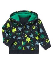 Gymboree Monstro-politan Navy Blue Monster Hoodie Jacket Boys 4T-5T NEW NWT
