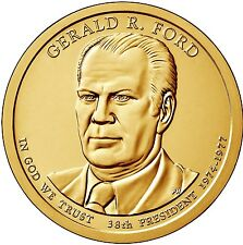 """2016 P Gerald Ford Presidential Dollar """"Brilliant Uncirculated"""" Coin US Mint"""