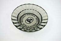 Vintage Frontier Hotel & Casino Las Vegas Nevada Smokey Gray Glass Ashtray