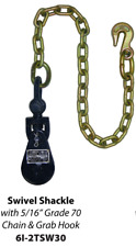 B/A Products Snatch Block with Chain 2 Ton  - Recovery Rollbacks Wrecker