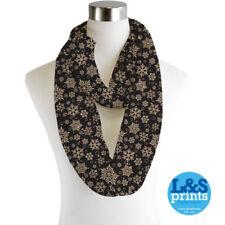 Sciarpe, foulard e scialli da donna neri senza marca chiffon