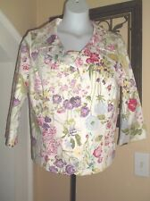 Womens Bright Floral Jacket Blazer & matching Cami Fits Size Medium ON by Leboff