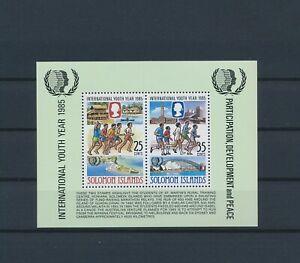 LN23331 Solomon Islands 1985 youth year good sheet MNH
