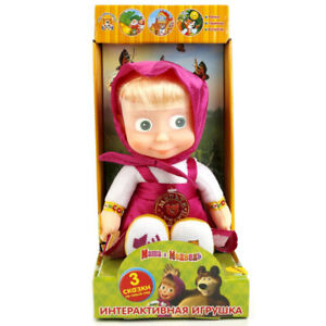 Masha and the Bear Interactive Educational Talking Plush Doll, Talks in Russian