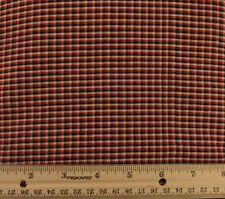 Fabric- 100% Cotton, Black, Red & Beige Plaid #50
