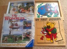 First jigsaw puzzles x 2 (Ravensburger The Wombles & assorted wooden puzzles)